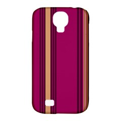 Stripes Background Wallpaper In Purple Maroon And Gold Samsung Galaxy S4 Classic Hardshell Case (PC+Silicone)