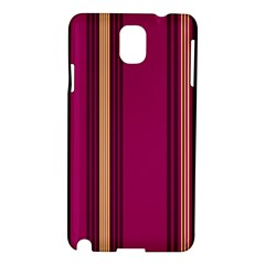 Stripes Background Wallpaper In Purple Maroon And Gold Samsung Galaxy Note 3 N9005 Hardshell Case