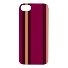 Stripes Background Wallpaper In Purple Maroon And Gold Apple Iphone 5s/ Se Hardshell Case