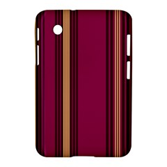 Stripes Background Wallpaper In Purple Maroon And Gold Samsung Galaxy Tab 2 (7 ) P3100 Hardshell Case