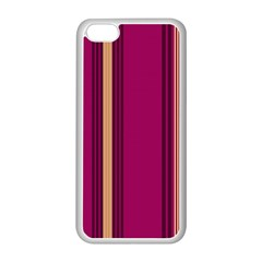 Stripes Background Wallpaper In Purple Maroon And Gold Apple iPhone 5C Seamless Case (White)