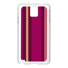 Stripes Background Wallpaper In Purple Maroon And Gold Samsung Galaxy Note 3 N9005 Case (White)