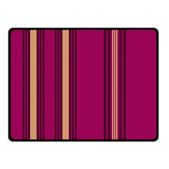 Stripes Background Wallpaper In Purple Maroon And Gold Double Sided Fleece Blanket (small)