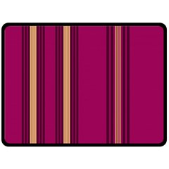 Stripes Background Wallpaper In Purple Maroon And Gold Double Sided Fleece Blanket (Large)