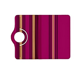 Stripes Background Wallpaper In Purple Maroon And Gold Kindle Fire Hd (2013) Flip 360 Case