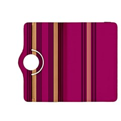 Stripes Background Wallpaper In Purple Maroon And Gold Kindle Fire HDX 8.9  Flip 360 Case