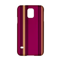 Stripes Background Wallpaper In Purple Maroon And Gold Samsung Galaxy S5 Hardshell Case