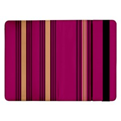 Stripes Background Wallpaper In Purple Maroon And Gold Samsung Galaxy Tab Pro 12.2  Flip Case