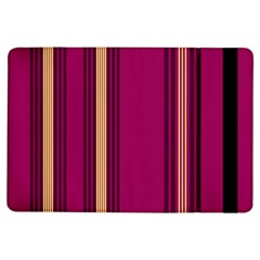 Stripes Background Wallpaper In Purple Maroon And Gold iPad Air Flip