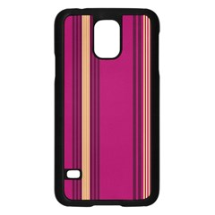Stripes Background Wallpaper In Purple Maroon And Gold Samsung Galaxy S5 Case (Black)