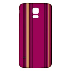 Stripes Background Wallpaper In Purple Maroon And Gold Samsung Galaxy S5 Back Case (white)