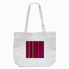 Stripes Background Wallpaper In Purple Maroon And Gold Tote Bag (White)