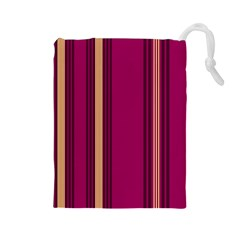 Stripes Background Wallpaper In Purple Maroon And Gold Drawstring Pouches (Large)