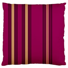 Stripes Background Wallpaper In Purple Maroon And Gold Large Flano Cushion Case (Two Sides)