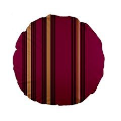 Stripes Background Wallpaper In Purple Maroon And Gold Standard 15  Premium Flano Round Cushions