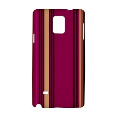 Stripes Background Wallpaper In Purple Maroon And Gold Samsung Galaxy Note 4 Hardshell Case