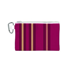 Stripes Background Wallpaper In Purple Maroon And Gold Canvas Cosmetic Bag (s)