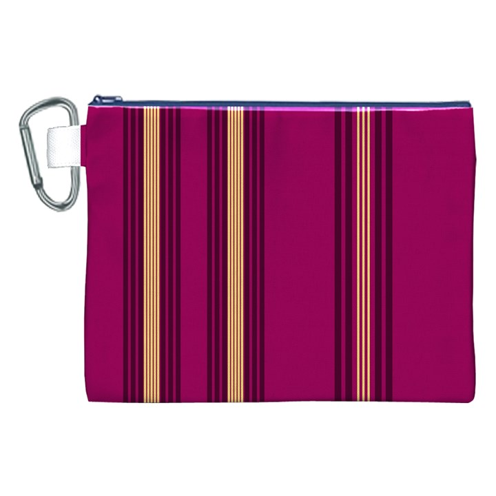 Stripes Background Wallpaper In Purple Maroon And Gold Canvas Cosmetic Bag (XXL)