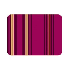 Stripes Background Wallpaper In Purple Maroon And Gold Double Sided Flano Blanket (mini)