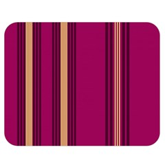 Stripes Background Wallpaper In Purple Maroon And Gold Double Sided Flano Blanket (Medium)