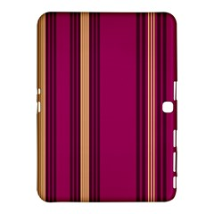 Stripes Background Wallpaper In Purple Maroon And Gold Samsung Galaxy Tab 4 (10.1 ) Hardshell Case