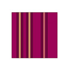 Stripes Background Wallpaper In Purple Maroon And Gold Satin Bandana Scarf
