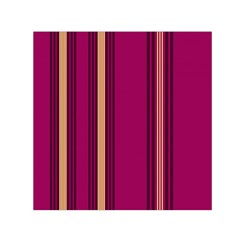 Stripes Background Wallpaper In Purple Maroon And Gold Small Satin Scarf (square)