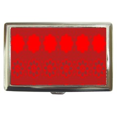 Red Flowers Velvet Flower Pattern Cigarette Money Cases