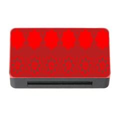 Red Flowers Velvet Flower Pattern Memory Card Reader with CF