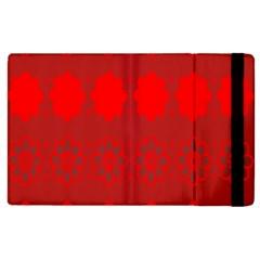 Red Flowers Velvet Flower Pattern Apple iPad 2 Flip Case