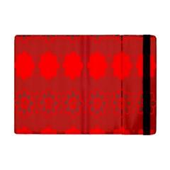 Red Flowers Velvet Flower Pattern Apple iPad Mini Flip Case