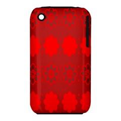 Red Flowers Velvet Flower Pattern iPhone 3S/3GS