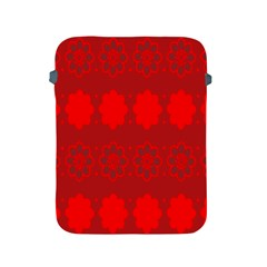 Red Flowers Velvet Flower Pattern Apple iPad 2/3/4 Protective Soft Cases