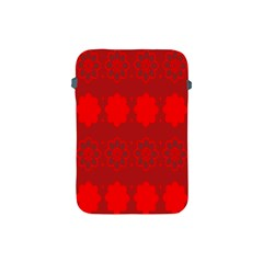 Red Flowers Velvet Flower Pattern Apple iPad Mini Protective Soft Cases