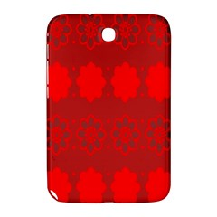 Red Flowers Velvet Flower Pattern Samsung Galaxy Note 8.0 N5100 Hardshell Case