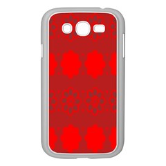 Red Flowers Velvet Flower Pattern Samsung Galaxy Grand DUOS I9082 Case (White)
