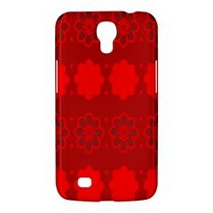 Red Flowers Velvet Flower Pattern Samsung Galaxy Mega 6.3  I9200 Hardshell Case