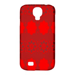 Red Flowers Velvet Flower Pattern Samsung Galaxy S4 Classic Hardshell Case (PC+Silicone)