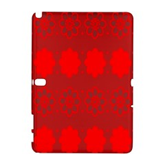 Red Flowers Velvet Flower Pattern Galaxy Note 1