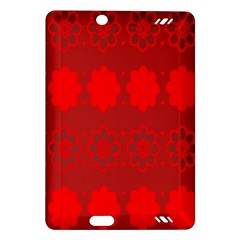 Red Flowers Velvet Flower Pattern Amazon Kindle Fire HD (2013) Hardshell Case