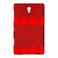 Red Flowers Velvet Flower Pattern Samsung Galaxy Tab S (8.4 ) Hardshell Case