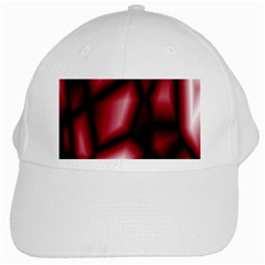 Red Abstract Background White Cap