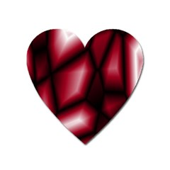 Red Abstract Background Heart Magnet