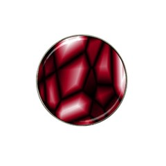 Red Abstract Background Hat Clip Ball Marker (4 Pack)