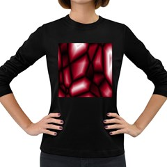 Red Abstract Background Women s Long Sleeve Dark T-Shirts