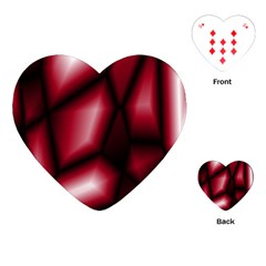 Red Abstract Background Playing Cards (Heart)
