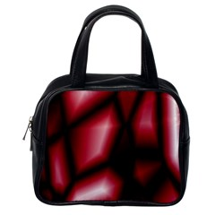 Red Abstract Background Classic Handbags (one Side)