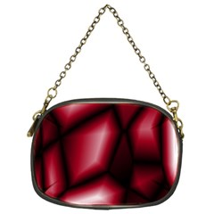 Red Abstract Background Chain Purses (One Side)