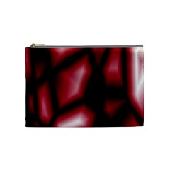 Red Abstract Background Cosmetic Bag (Medium)