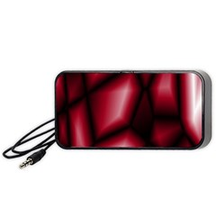 Red Abstract Background Portable Speaker (Black)